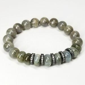 New Natural Labradorite Gemstones Bracelet